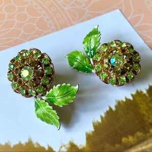 Vintage Floral Clip-on Earrings
